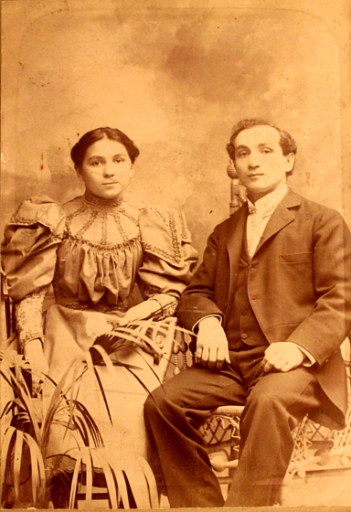 Jessie and Jacob on their Wedding Day, New York, 1903