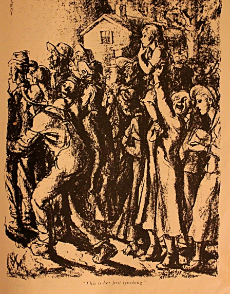 """""""This is Her First Lynching"""" by Reginald Marsh (1934)Picture by Author from """"Cartoon Cavalcade"""", Edited by Thomas Craven, Simon & Schuster, New York, 1943"""